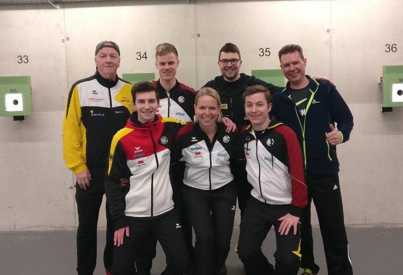 Luftpistolen Team bei der EM Qualifikation 2020