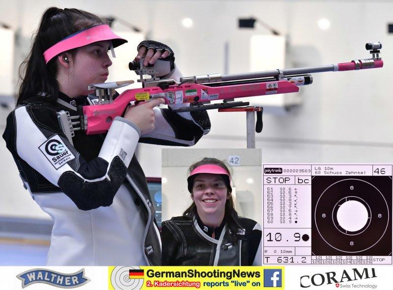 Hannah Steffen mit dem Luftgewehr auf der DSB Sichtung 2020