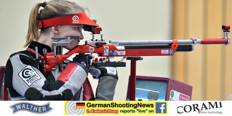 Larissa Weindorf mit dem Luftgewehr auf der DSB Sichtung 2020